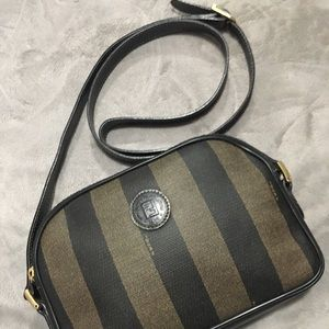 Vintage FENDI  Pequin Crossbody Bag Italy